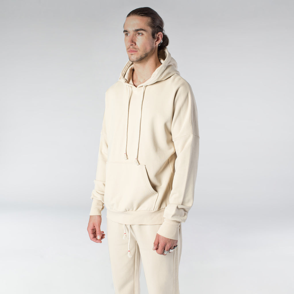 TERRY PASTEL HOODIE / CREAM - HIP AND BONE
