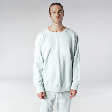 TERRY PASTEL CREW / MINT BLUE