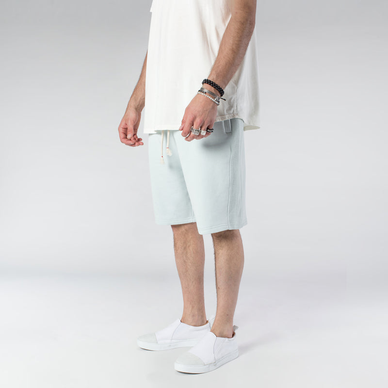 TERRY PASTEL SHORTS / MINT BLUE