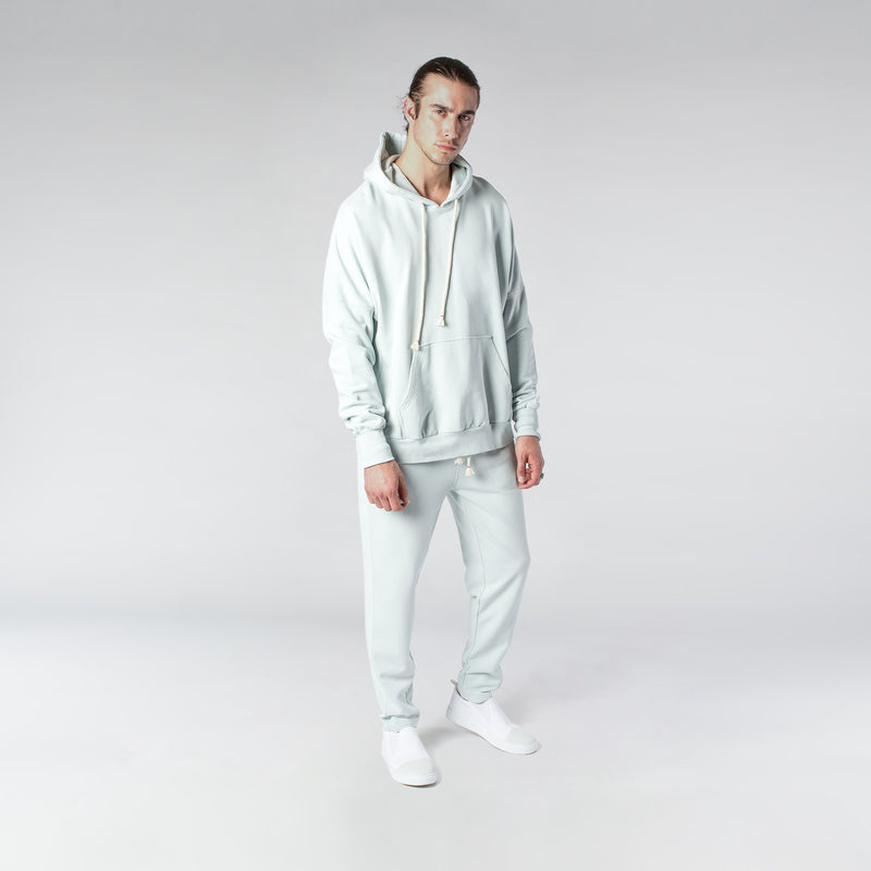 TERRY PASTEL HOODIE / MINT BLUE - HIP AND BONE