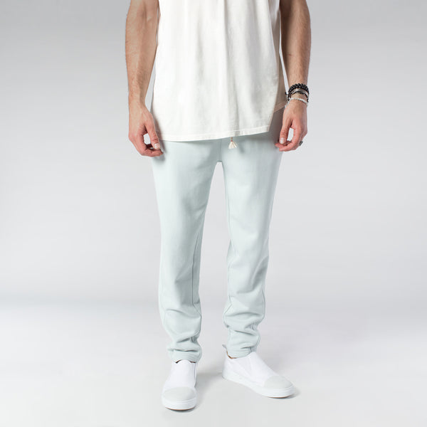 TERRY PASTEL JOGGERS / MINT BLUE | Bottoms | HIP AND BONE