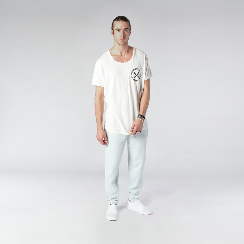 TERRY PASTEL JOGGERS / MINT BLUE - HIP AND BONE