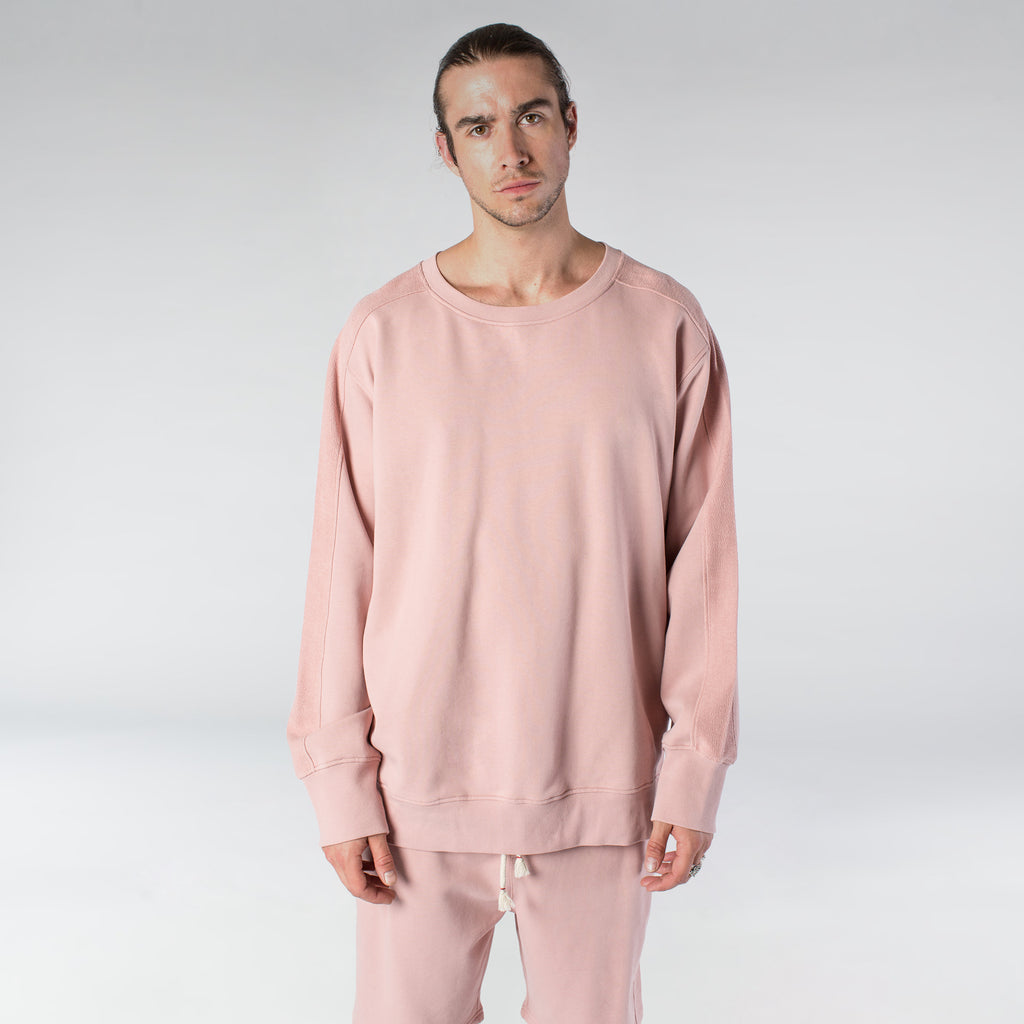 TERRY PASTEL CREW / DUSTY ROSE