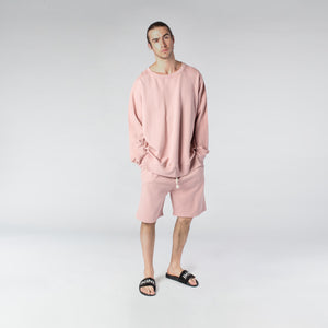 TERRY PASTEL CREW / DUSTY ROSE - HIP AND BONE