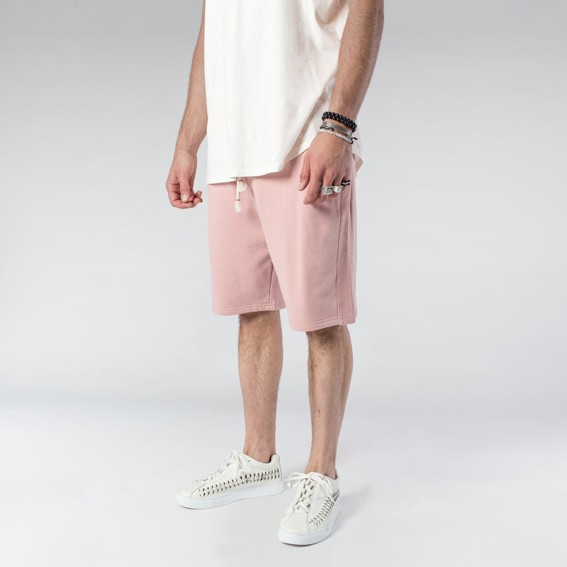 TERRY PASTEL SHORTS / DUSTY ROSE