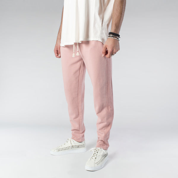TERRY PASTEL JOGGERS / DUSTY ROSE | bottoms | HIP AND BONE