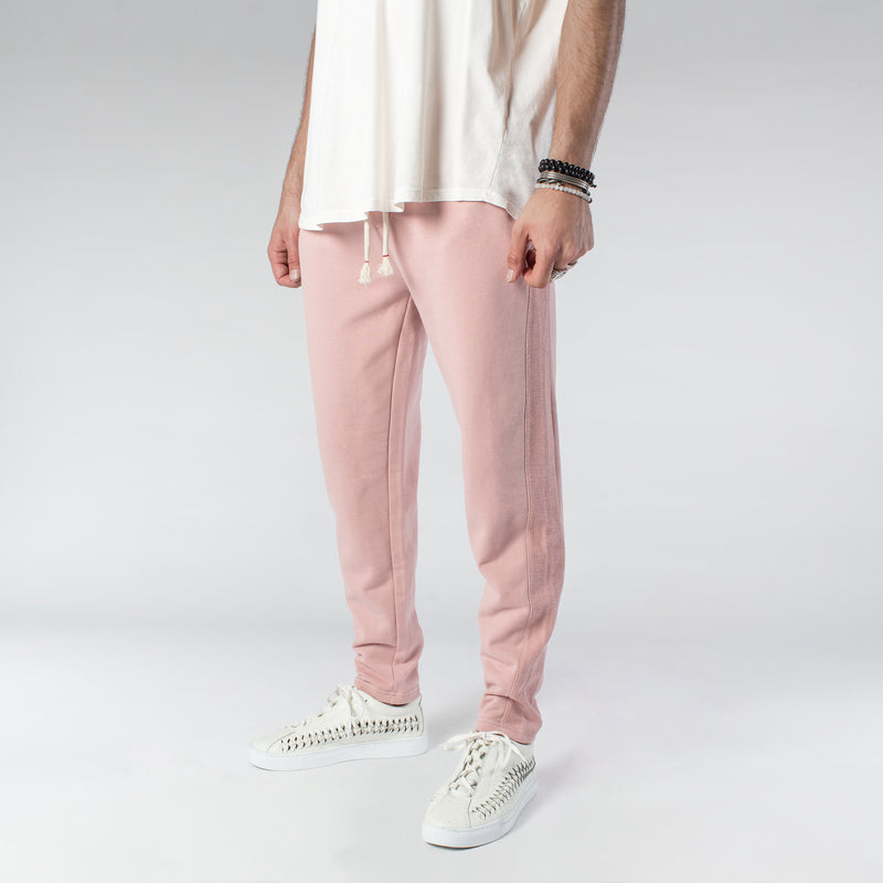 TERRY PASTEL JOGGERS / DUSTY ROSE - HIP AND BONE