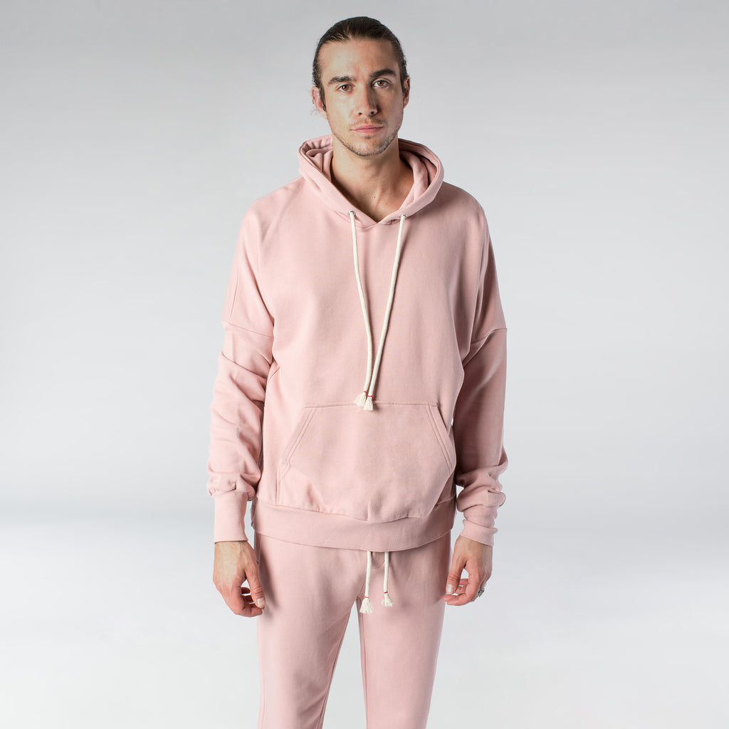 TERRY PASTEL HOODIE / DUSTY ROSE