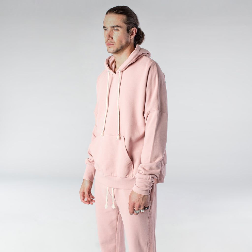 TERRY PASTEL HOODIE / DUSTY ROSE - HIP AND BONE
