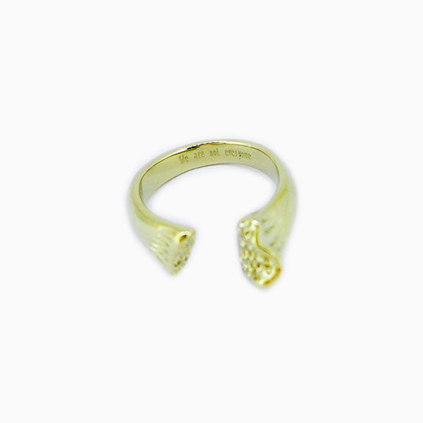 BONE RING - GOLD
