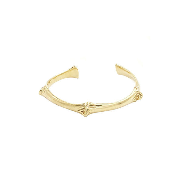 BONE BANGLE BRACELET - GOLD - HIP AND BONE