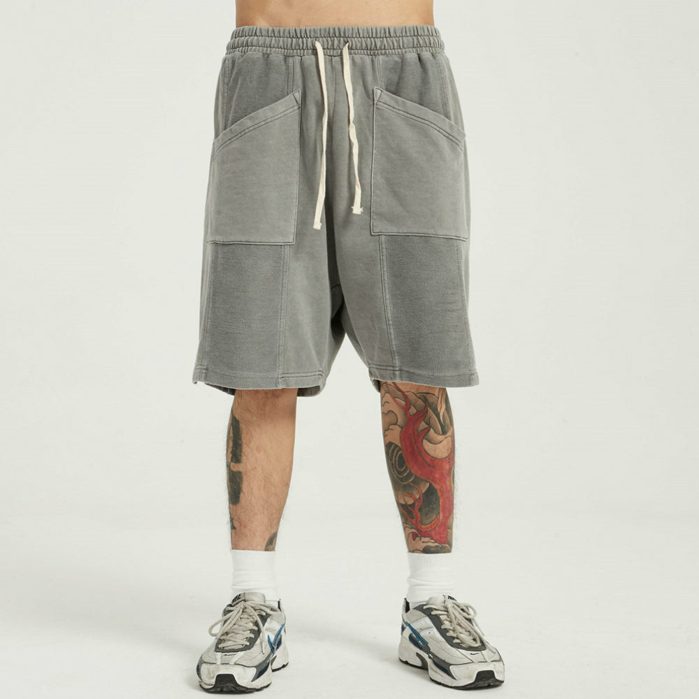 SOFTEST DROP SHORTS EVER PIGMENT POWDER GREY - HIP AND BONE