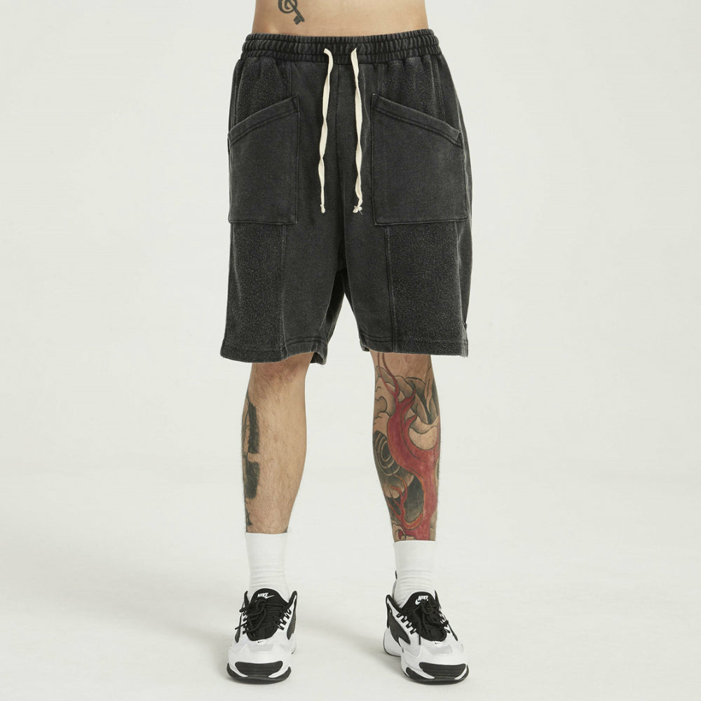 SOFTEST DROP SHORTS EVER PIGMENT BLACK - HIP AND BONE