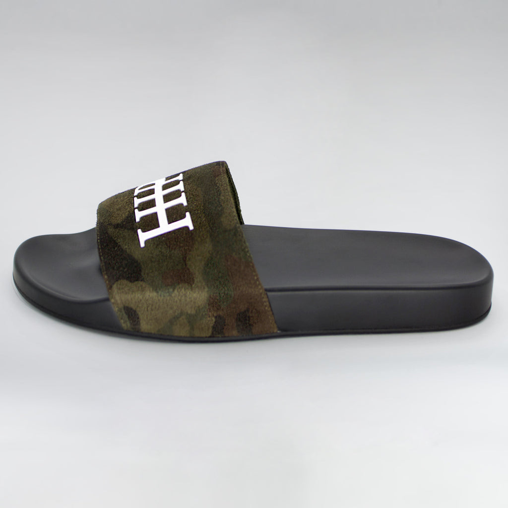 HB CAMO SUEDE SLIDES - HIP AND BONE