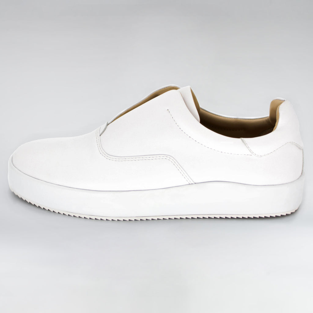 VISION CANVAS SUEDE SLIDER - WHITE CANVAS