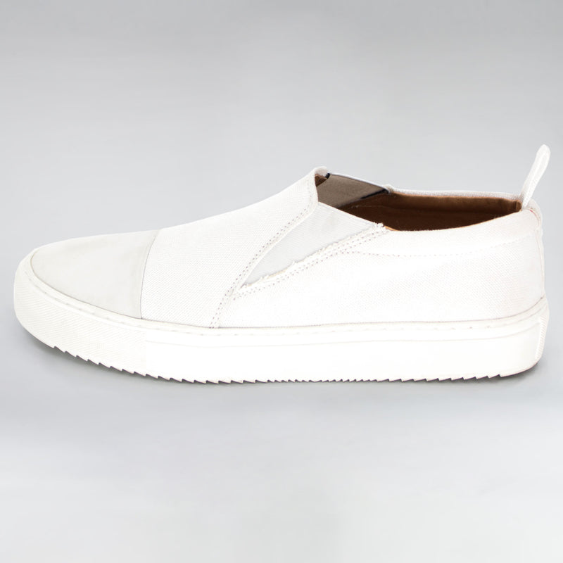VISION CANVAS SUEDE SLIDER - WHITE | Shoes | HIP AND BONE