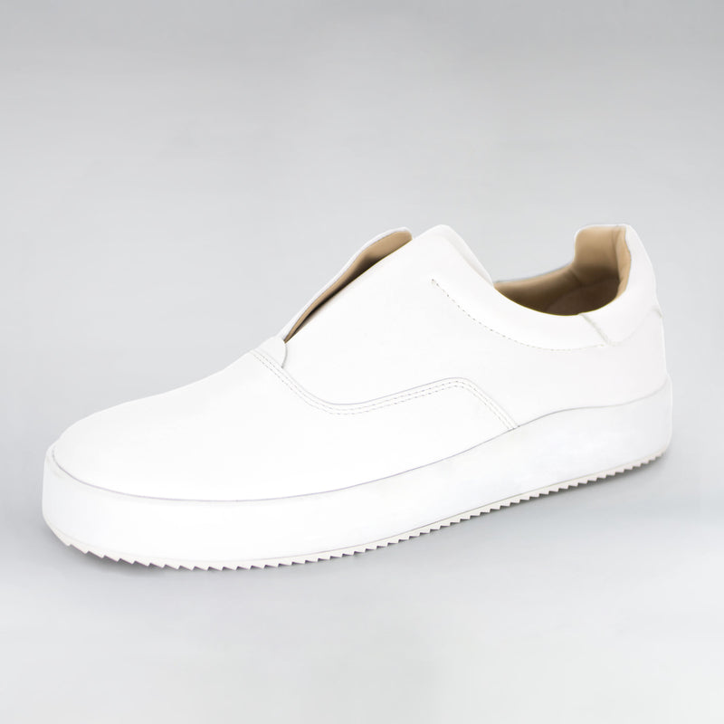 SKATER - WHITE LEATHER