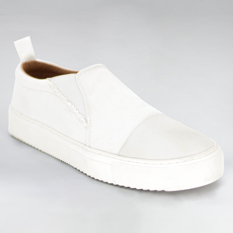 VISION CANVAS SUEDE SLIDER - WHITE - HIP AND BONE