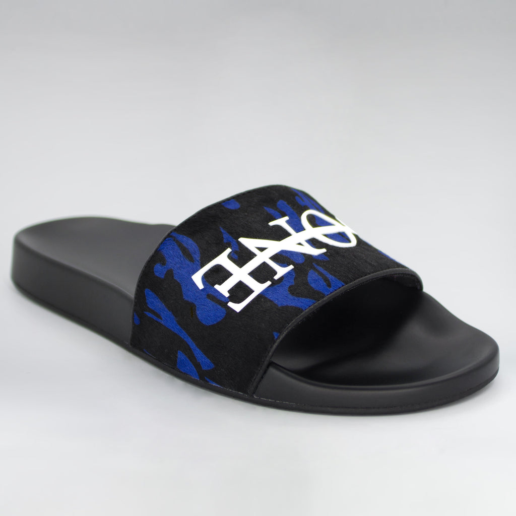 HB BLUE CAMO PONY SLIDES - HIP AND BONE