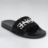 HB BLACK PEBBLE SUEDE SLIDES