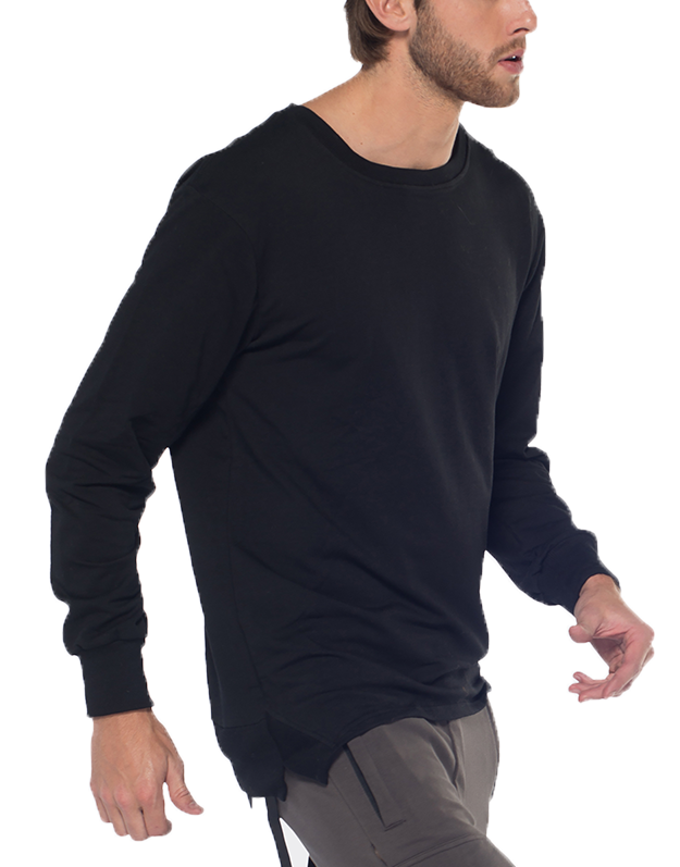 PARACHUTE JUMPER SWEATSHIRT / BLACK