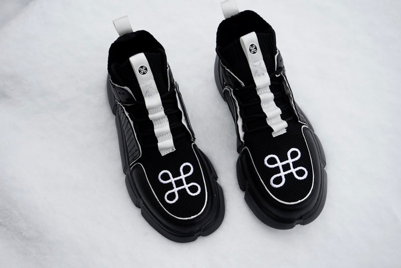 BLOCK SHOE BLACK WHITE PIPPING SPECIAL EDITION | Shoes | HIP AND BONE