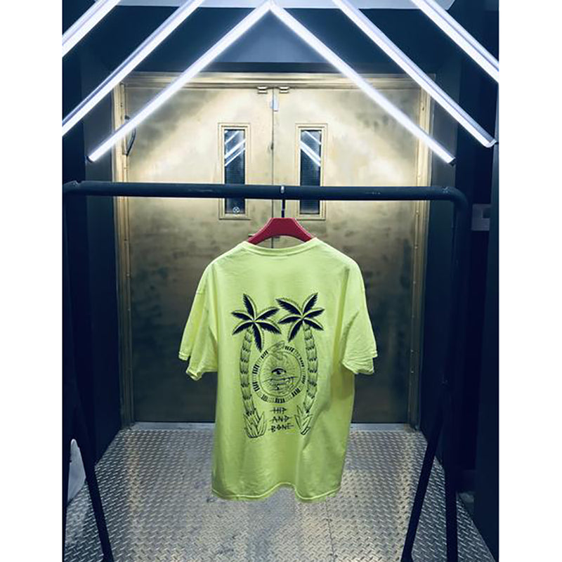 ART PLUG STAFF TEE SAFETY GREEN