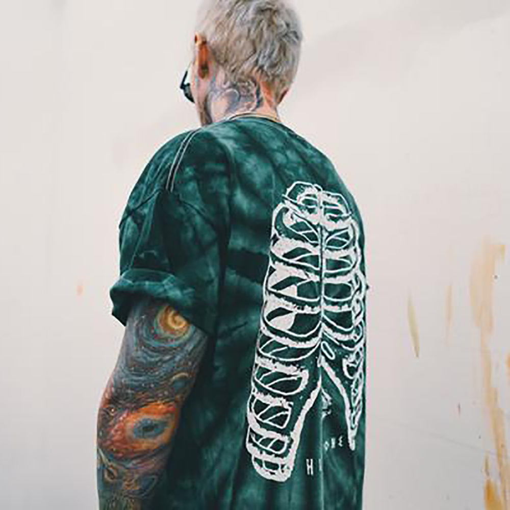 ART PLUG SPIDER BONE TEE GREEN