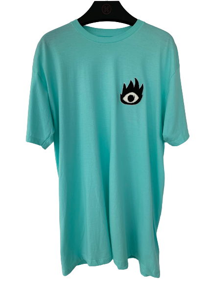 FIRE EYE TEE AQUA - HIP AND BONE