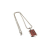 CROC LEATHER DOG TAG AND SILVER CHAIN - RED - HIP AND BONE