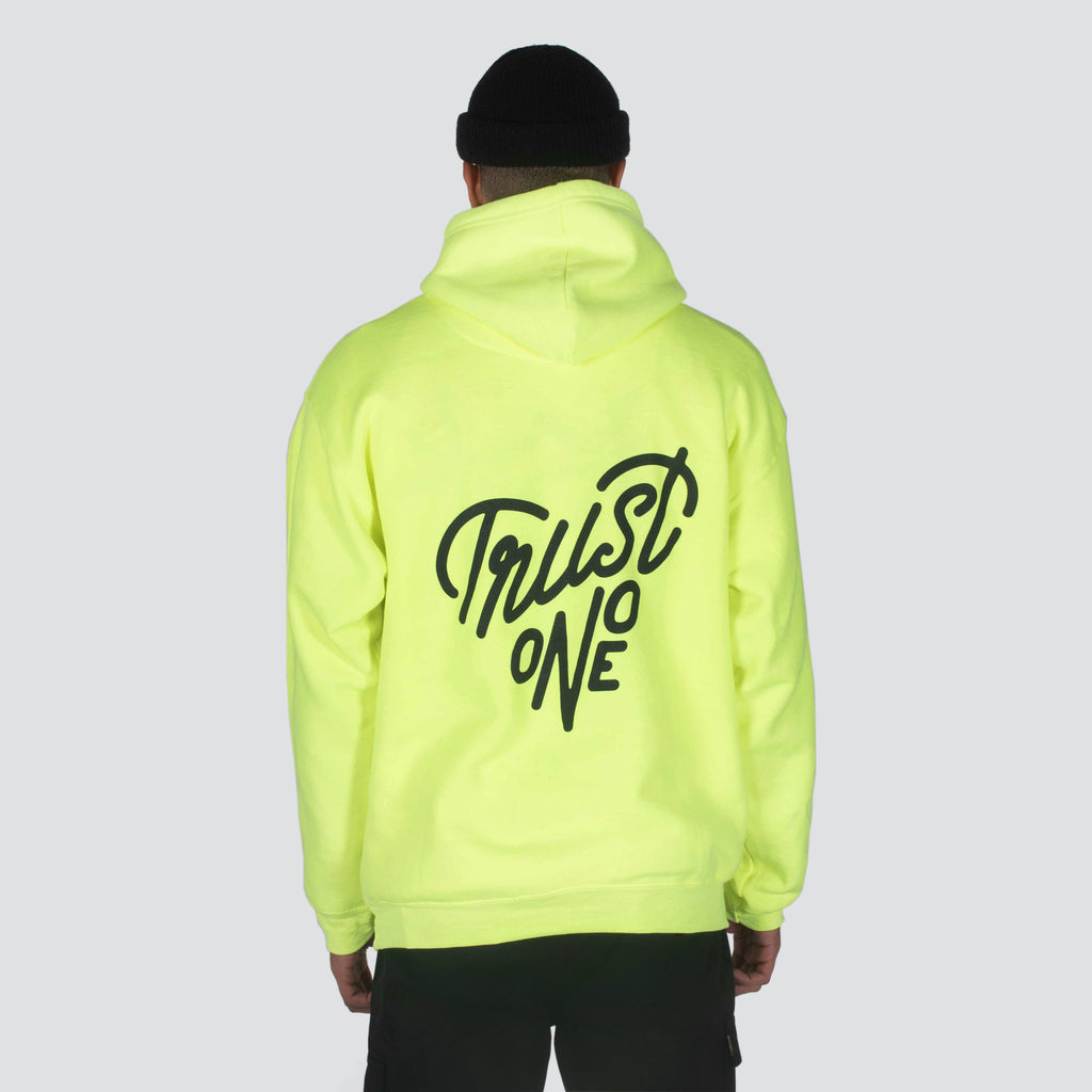 NEON TRUST ONE PULLOVER HOODIE SAFETY GREEN