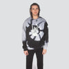 TIE DYE ROCKER HAND CREW BLACK GREY - HIP AND BONE