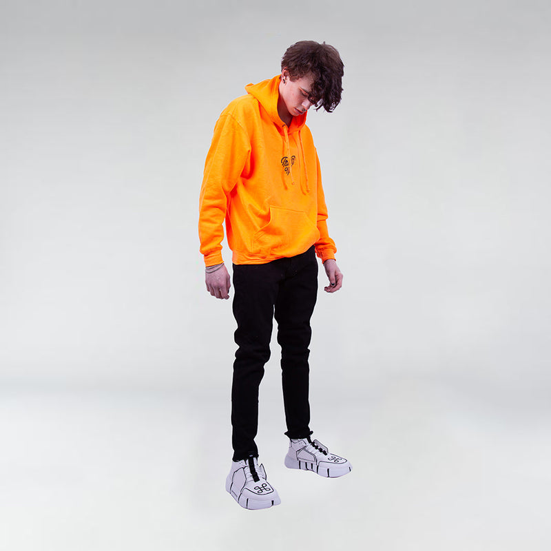 NEON TRUST ONE PULLOVER HOODIE SAFETY ORANGE