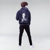 ACID WASH ESCOBART HOODIE BLACK - HIP AND BONE