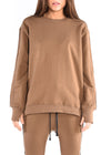WOMEN'S PARACHUTE CREW SWEATSHIRT / OLIVE - HIP AND BONE