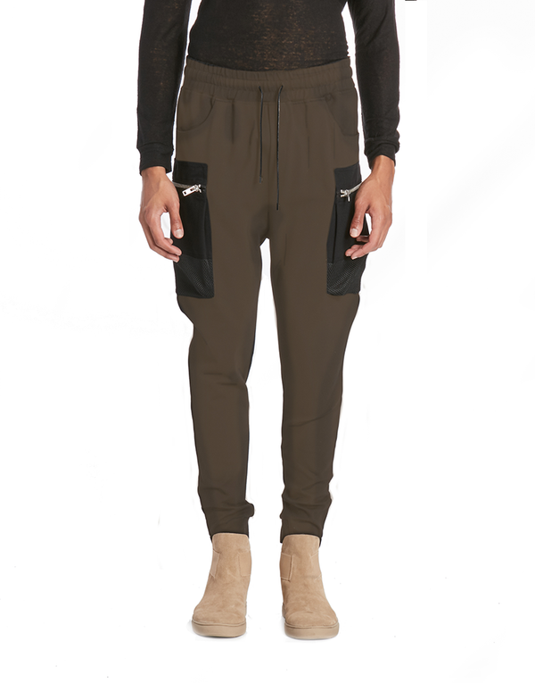 PARACHUTE CARGO JOGGER - OLIVE GREEN | Bottoms | HIP AND BONE