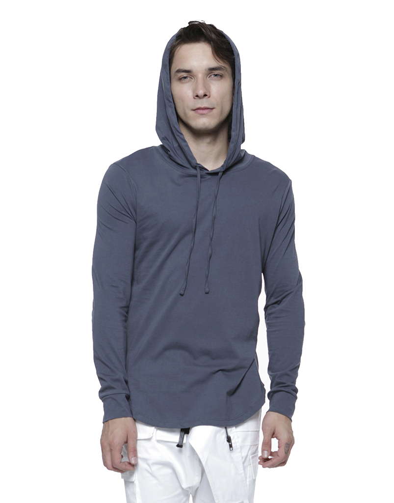 PIMA HOODIE / CHARCOAL - HIP AND BONE