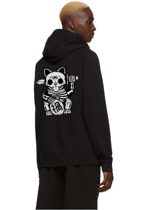 UNLUCKY CAT ZIP-UP HOODIE