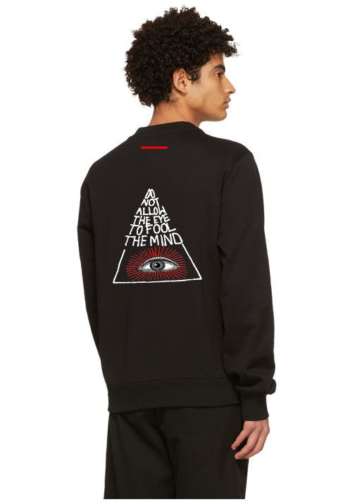 MIND EMBROIDERED CREW BLACK