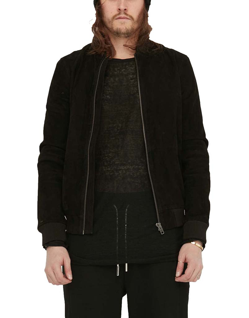 SUEDE BOMBER / BLACK - HIP AND BONE