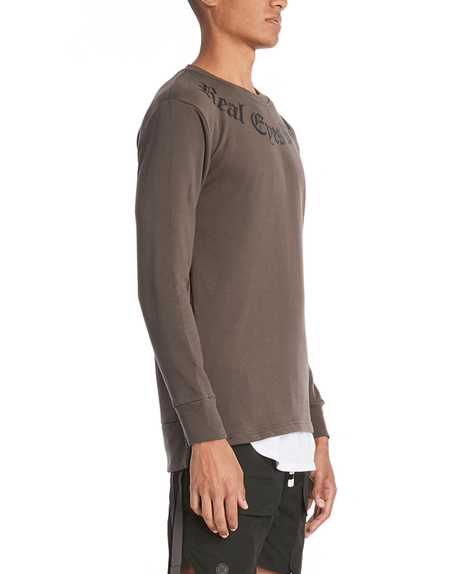 REALIZE CREW SWEATSHIRT / CHARCOAL - HIP AND BONE