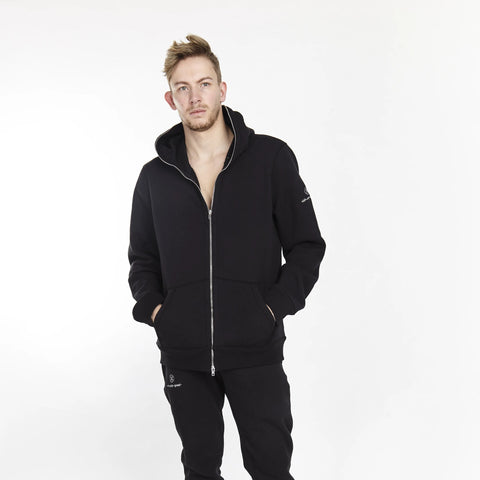 POLAR ZIP UP HOODIE BLACK
