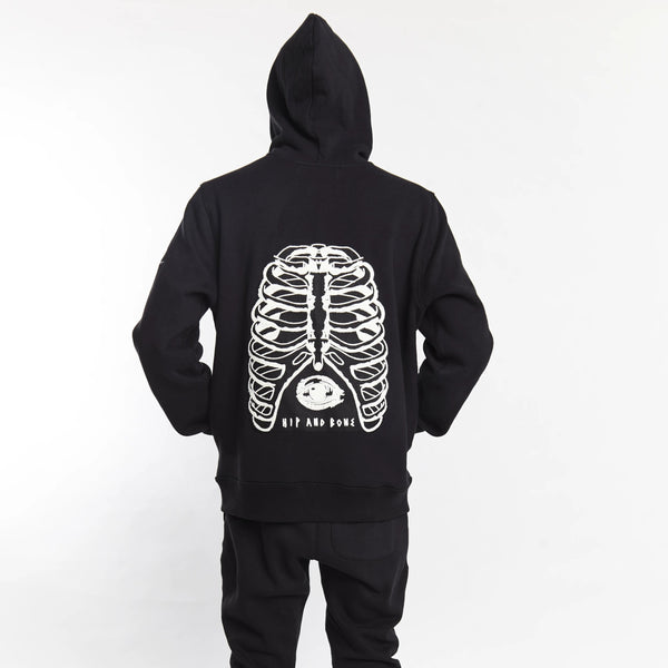 RIBCAGE FULL BODY ZIP UP HOODIE | Tops | HIP AND BONE