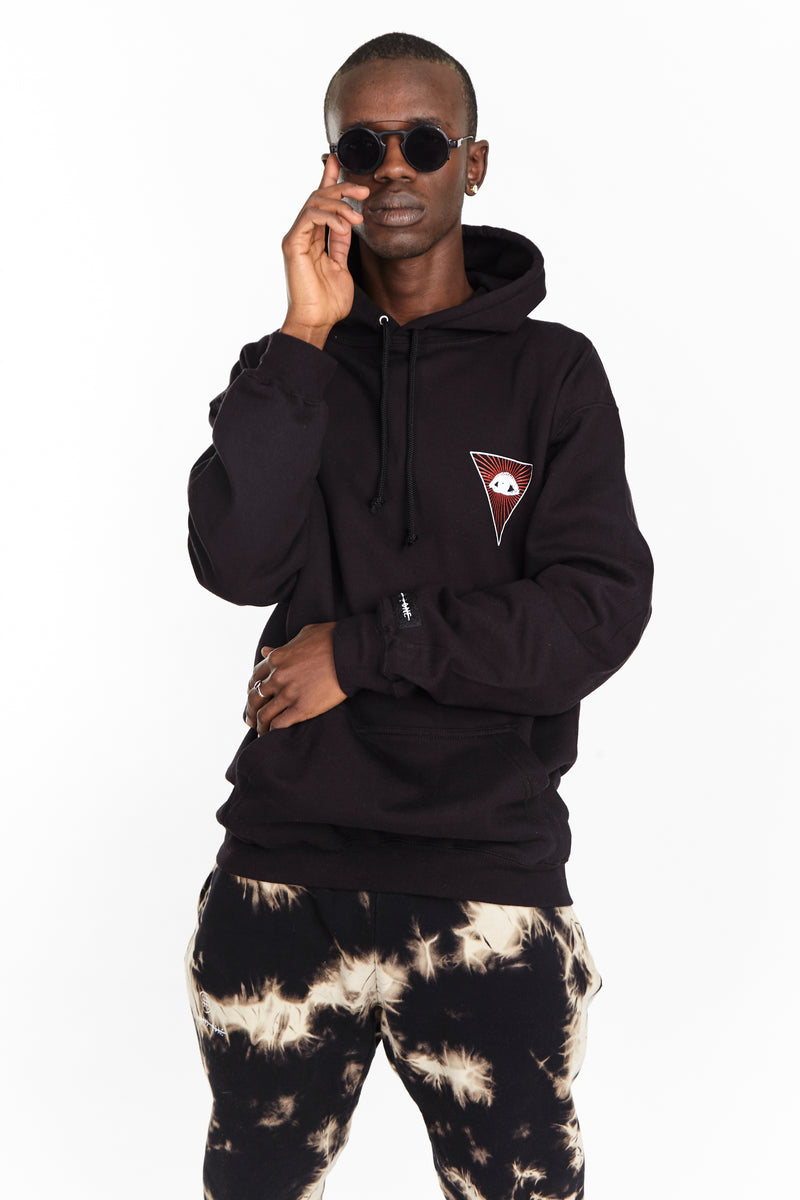 MIND HOODIE BLACK - HIP AND BONE