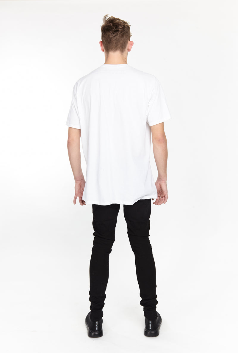 FIRE EYE TEE WHITE - HIP AND BONE