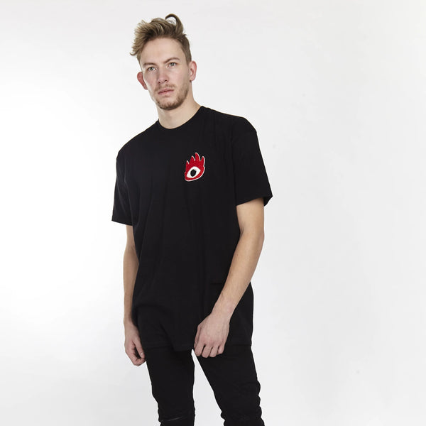 FIRE EYE TEE BLACK | Tops | HIP AND BONE