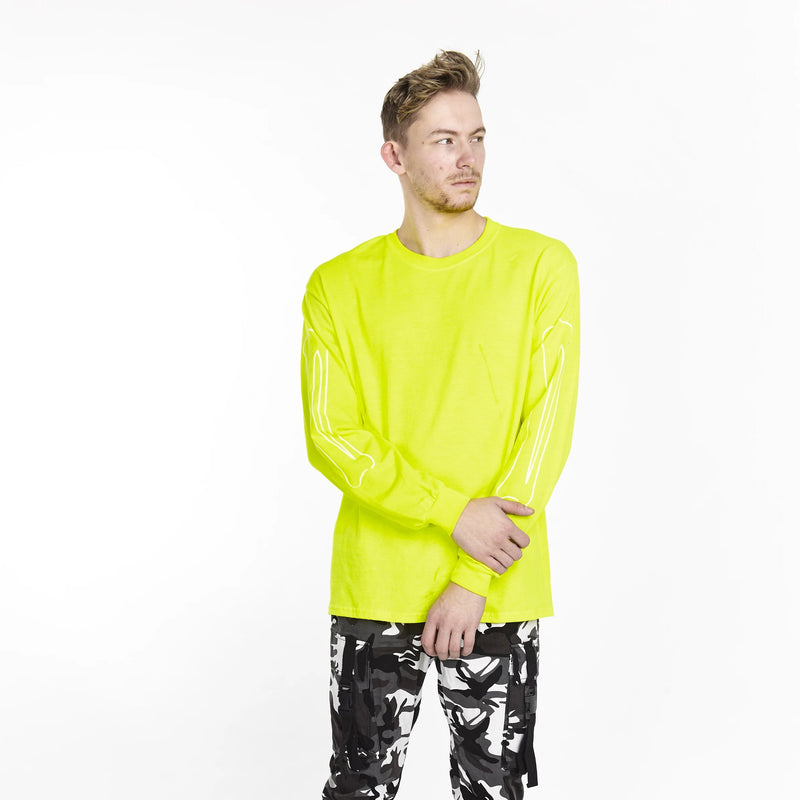 BONE SLEEVE LONG SLEEVE TEE NEON - HIP AND BONE