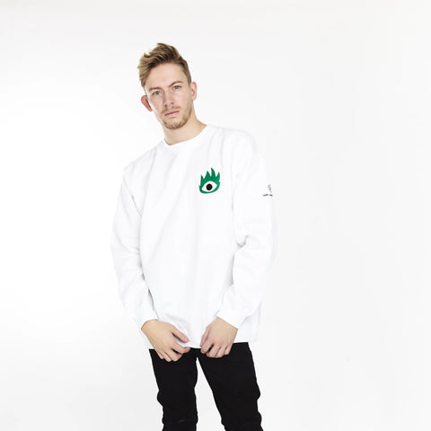 THE CRAZY NEVER DIE LONG SLEEVE TEE WHITE