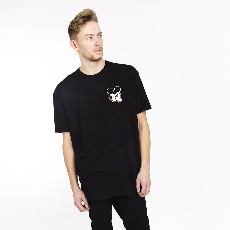 TWISTED MOUSE TEE BLACK | Tops | HIP AND BONE