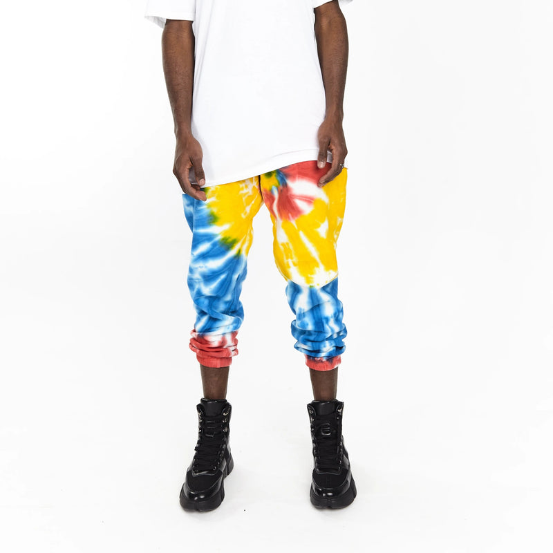 SOFTEST JOGGER EVER MULTICOLOR TIE DYE - HIP AND BONE